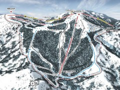 Bogus Basin Ski Trail Map - Pine Creek