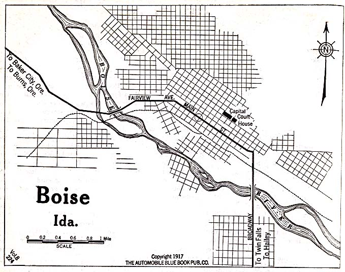 Boise Idaho 1917 Map  Boise Id  Mappery