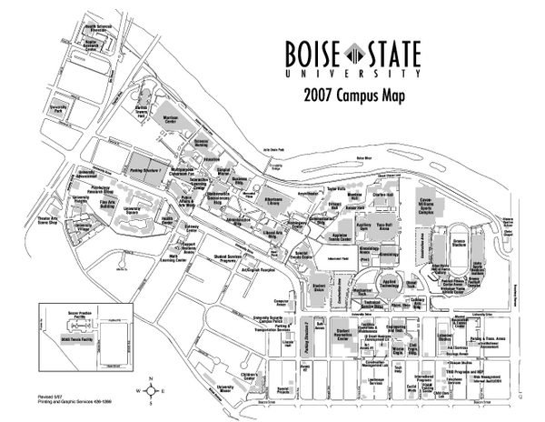 Boise State University Map  Boise Idaho  Mappery