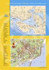 Boka Kotorska Bay and Herceg Novi Tourist Map