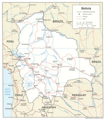 Bolivia Detail Map, 2006 Map
