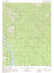 Bollibokka Mountain Quad - Shasta Lake Map