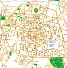 Bologna Italy City Center Street Map