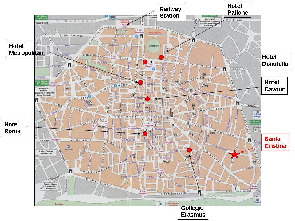 Bologna Tourist Map Bologna mappery