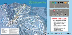 Bolton Valley Resort Ski Trail Map