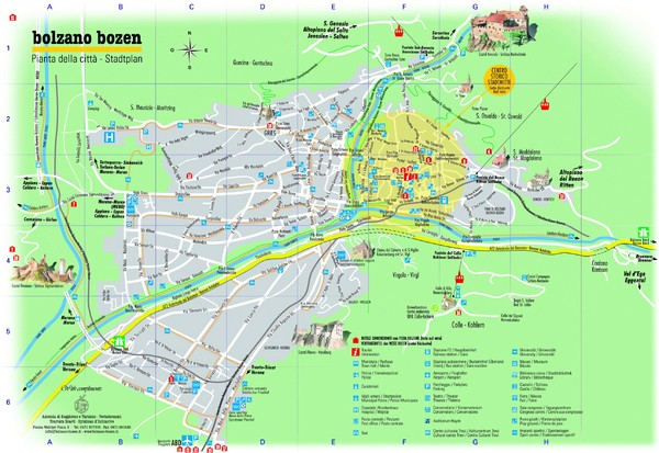 Bolzano Tourist  Map