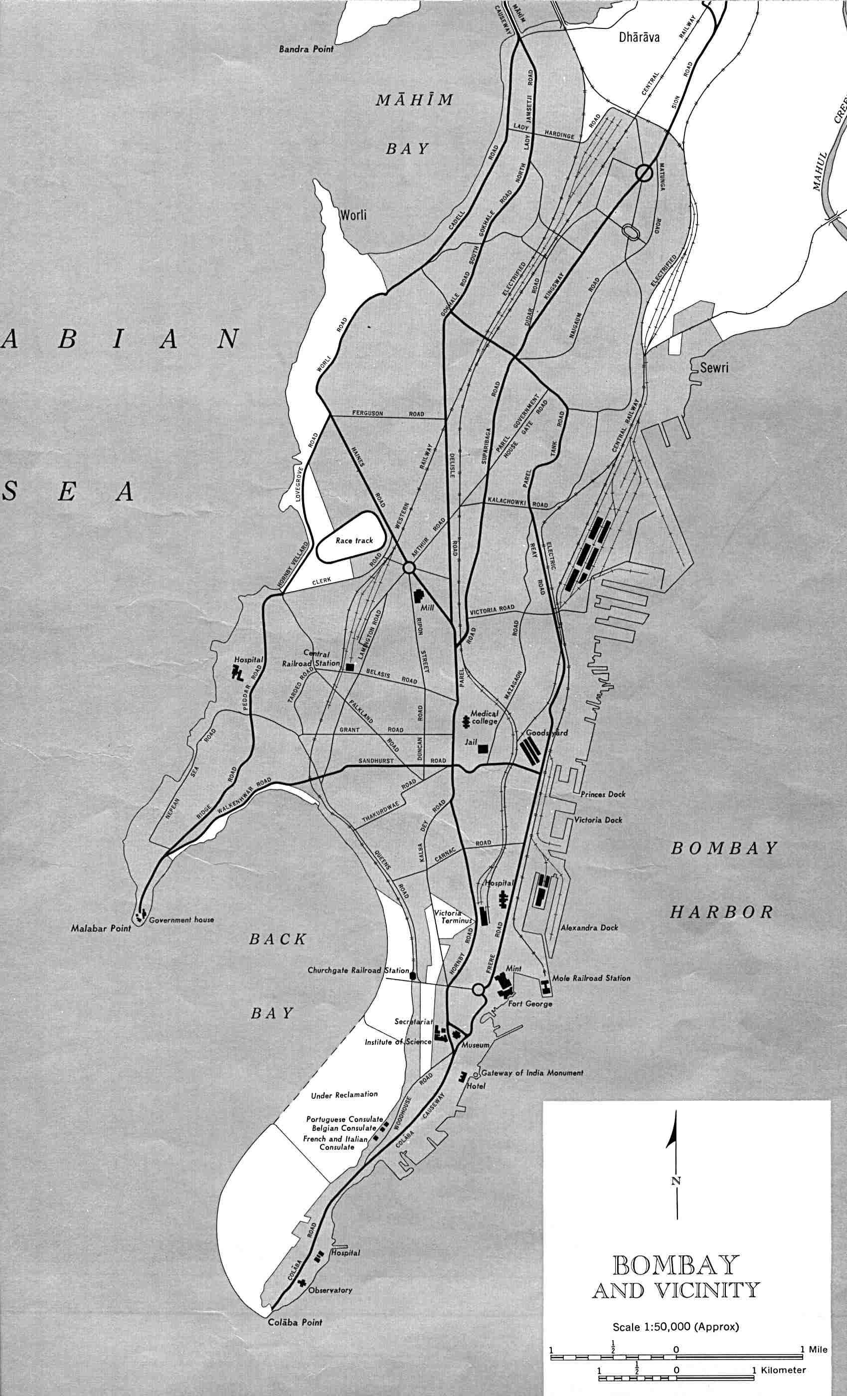 Bombay street map bombay india mappery gumiabroncs Gallery