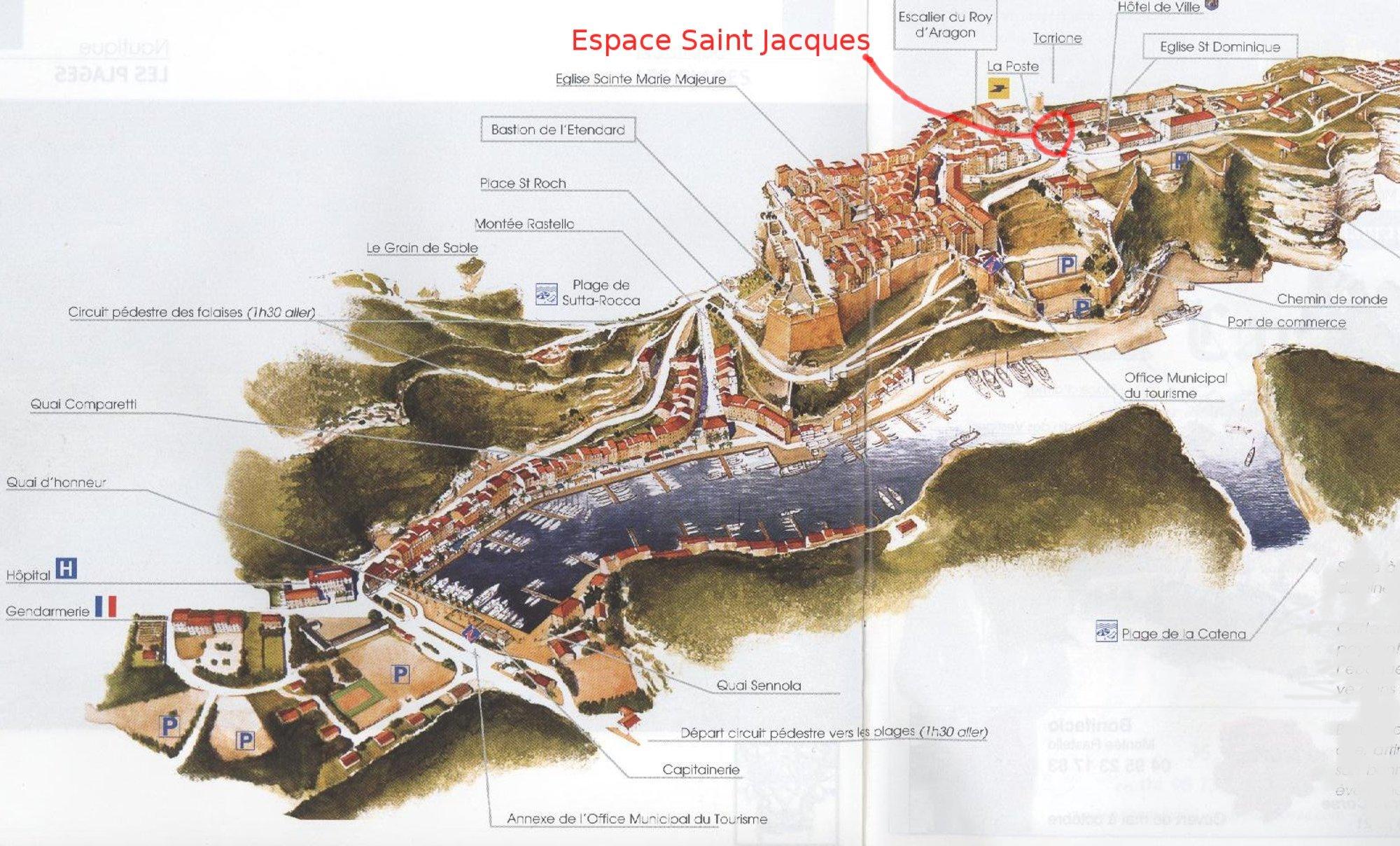 Bonifacio Tourist Map Bonifacio France mappery