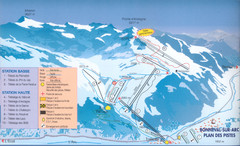 Bonneval sur Arc Ski Trail Map