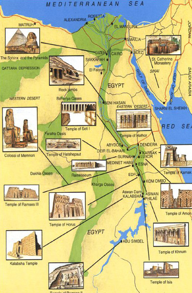EgyptSearch Forums African Kingdoms And Kings - Map of ancient egypt for 6th grade