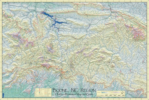 Boone, NC Outdoor Recreation Map