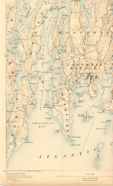 Boothbay Island Map