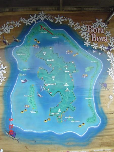 Bora Bora Map - Bora Bora • mappery