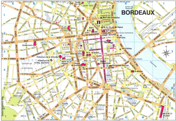 The Map Of France With The City.Bordeaux City Map Bordeaux Fr Mappery
