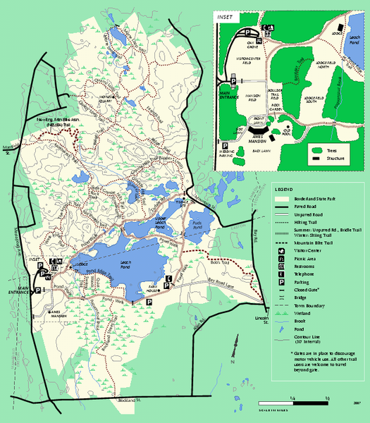 Borderland State Park Trail Map Ma • Mappery