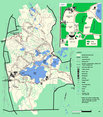 Borderland State Park trail map