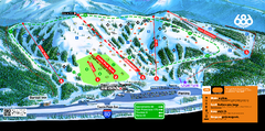 Boreal Mountain Resort Ski Trail Map