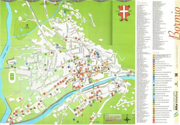 Bormio Italy Map.Bormio Tourist Map Bormio Italy Mappery