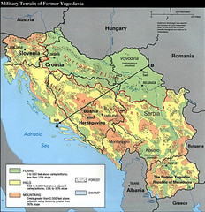 Bosnia and Herzegovina Military Terrain Map