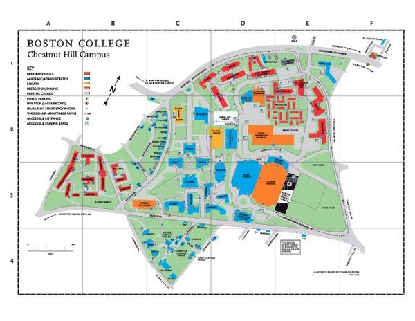 Boston College Chestnut Hill Campus Map 140 Commonwealth Avenue