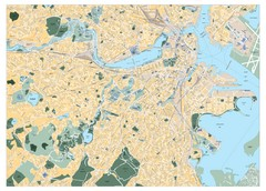Boston, Massachusetts City Map