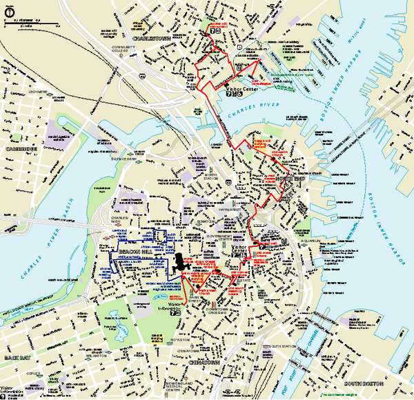 Boston National Historical Park Official Park Map
