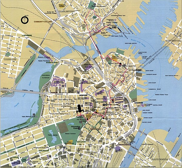 Boston Tourist Map