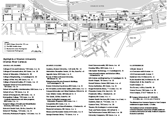 Boston University Charles River Campus Map Boston Ma mappery – Boston Tourist Map Pdf