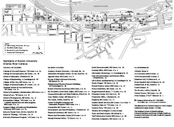 College University Boston College University Map