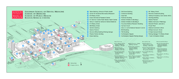 Boston University Medical Campus and Boston Medical Center Map