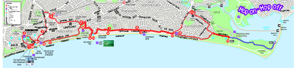 Bournemouth bus tour map