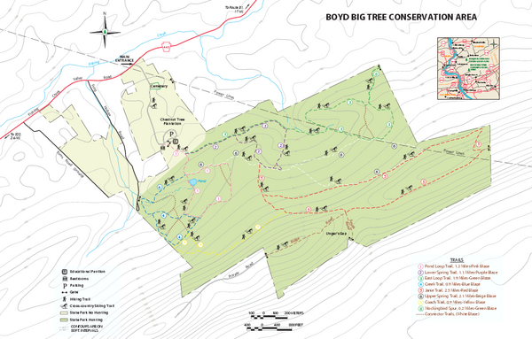 Boyd Big Tree Preserve Conservation Area map