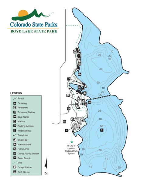 Boyd Lake State Park Map
