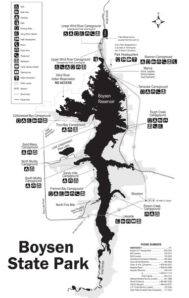 Boysen State Park Map