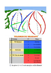Brabant Ski Trail Map
