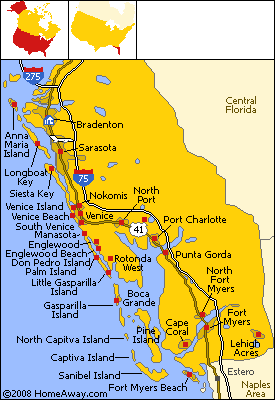 Bradenton Beach Map