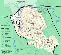 Bradley Palmer State Park winter map