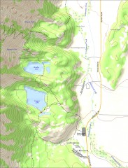 Bradley and Taggart Lake Hiking Map
