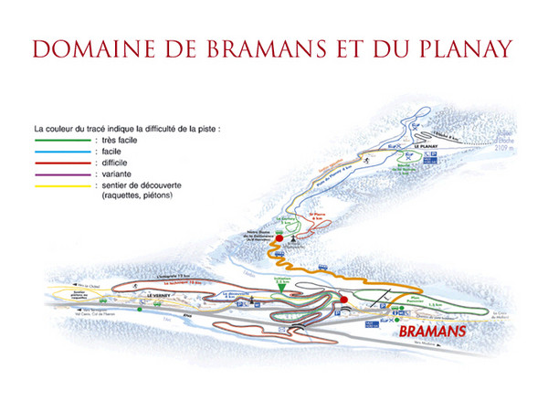 Bramans Ski Trail Map