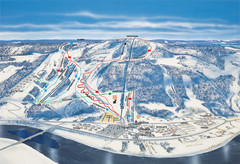 Branäs East Side Ski Trail Map