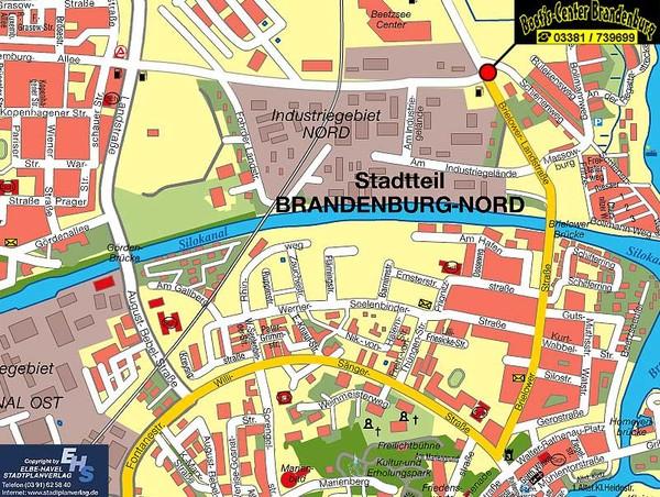 Brandenburg der Havel Map Brandenburg der Havel Germany mappery