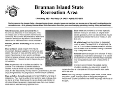 Brannan Island Campground Map