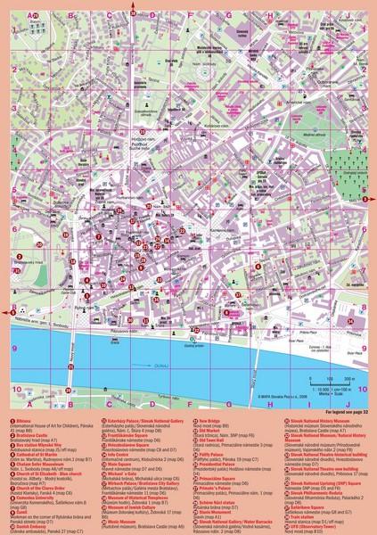 Bratislava Guide Map Bratislava mappery
