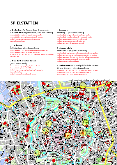 Braunschweig Tourist Map Braunschweig Germany mappery