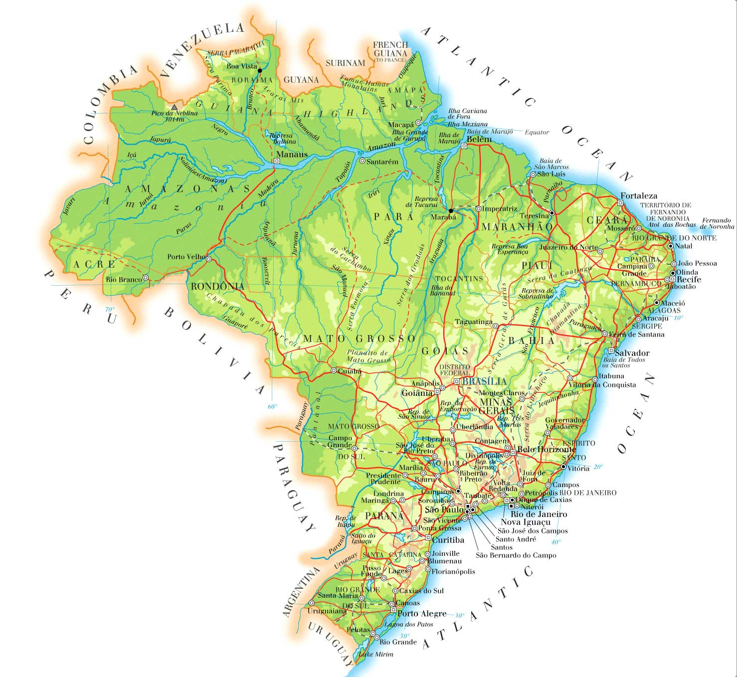 Brazil Map  Brazil • mappery