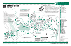 Brazos Bend, Texas State Park Facility Map