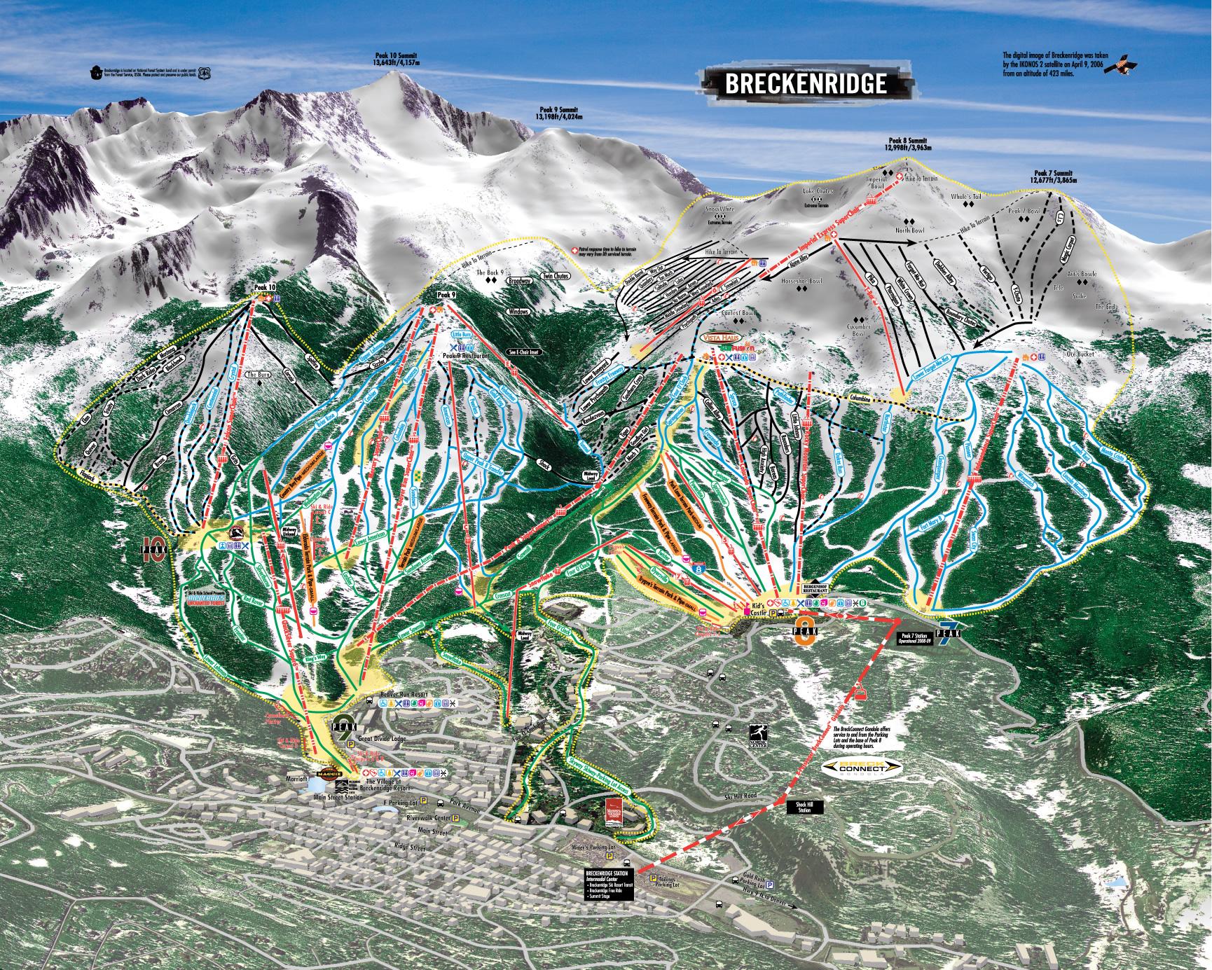 breckenridge ski resort ski trail map  breckenridge colorado united states• mappery. breckenridge ski resort ski trail map  breckenridge colorado