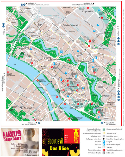 Bremen Tourist Map Bremen Germany Mappery - Germany map bremen