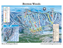 Bretton Woods Ski Area Ski Trail Map