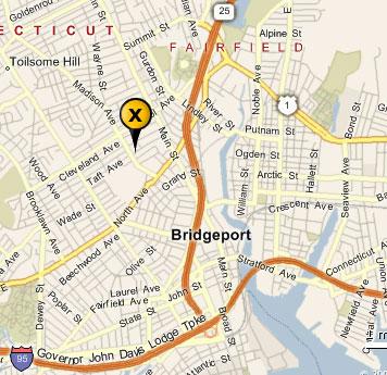 Bridgeport Connecticut City Map Bridgeport Connecticut mappery